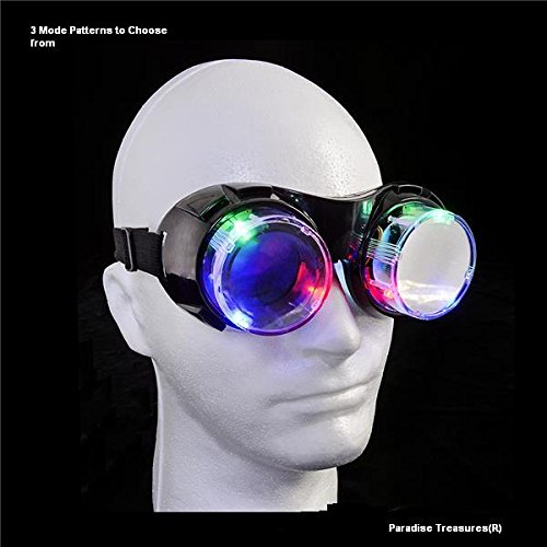 Light Up Led Goggles With Multi Function Windproof See