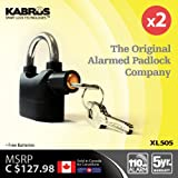 2 x Kabrus Smart Multi-Purpose Alarmed Padlocks / Security Siren Alarm Padloc… Reviews
