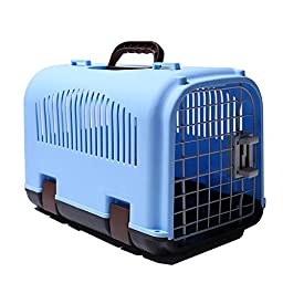 Choler Pet Travel Cage Cats And Dogs Aircraft Suitcase Small/Medium Dog Portable Box With Soft-Sided (style1)