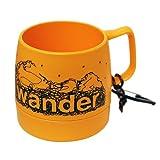 and wander(アンドワンダー) DINEX printed mug yellow