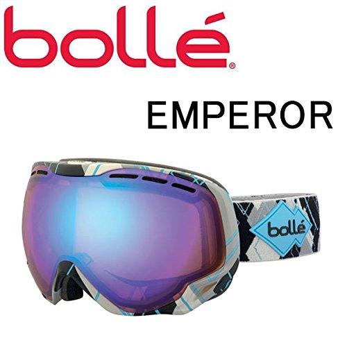 BOLLE(ボレー) bolle スノーゴーグル ボレー エンペラー/Gray & Blue Argyle オーロラ A03101 (15-16 15/16 2016) ボレー ゴーグル