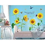 Yesurprise New PVC Removable Flower, Plant, Sun, Summer, Nature Miracles living room children's room sofa backdrop Wall Stickers children holiday party baby kid's room wallpaper art Mural decal Paper House Room Decorative Home DIY Decoration