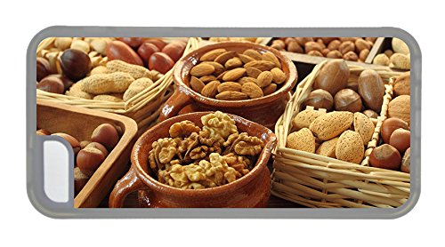 Customized Customized Iphone Case Food Nuts Almond Walnut Acorn Basket Pots Tpu Transparent For Apple Iphone 5C front-982912