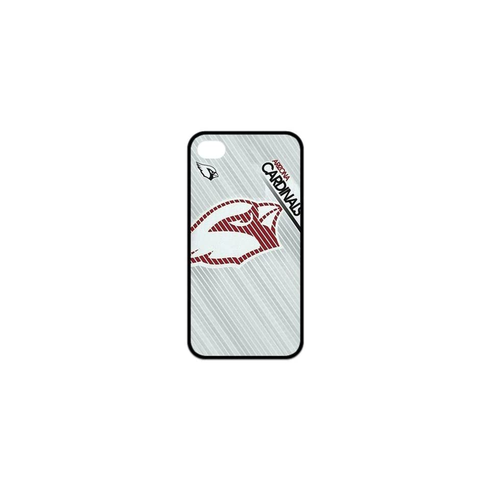 NFL Arizona Cardinals Logo Durable Rubber Cover Case for iPhone4 4S Cell Phones & Accessories