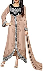 VIDA Women's Georgette Salwar Suit Material (Beige)