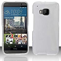 HTC One M9 Case Slim Fit Soft Rubber Candy Skin (TPU) Gel Jelly Cover by MEGATRONIC - Clear [With FREE Stylus Pen + Anti Scratch Clear LCD Screen Protector + Microfiber Cleaning Cloth]