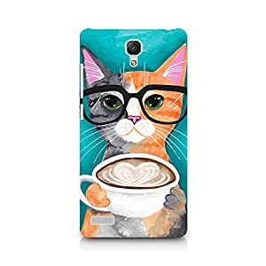 Mobicture Cat Premium Designer Mobile Back Case Cover For Xiaomi Redmi Note
