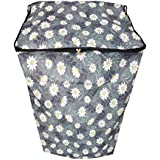 Dream Care Floral Grey Waterproof & Dustproof Printed Washing Machine Cover For IFB Top Load TL65RDW 7kg Washing Machine