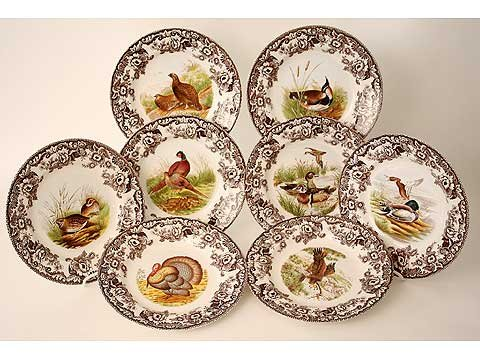 Spode Woodland Set of 8 Dinner Plates - Buy Spode Woodland Set of 8 Dinner Plates - Purchase Spode Woodland Set of 8 Dinner Plates (Spode, Home & Garden, Categories, Kitchen & Dining, Tableware, Plates, Dinner Plates)