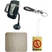 ManeKo 360 Degree Bending Neck Car Mobile Holder, 1 Non Slip Mat For Car Dashboard, 1 Jaguar Key Chain,1 Car Air...