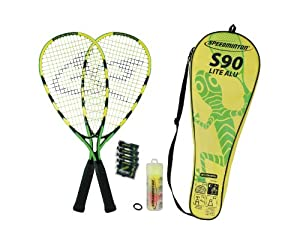 Speedminton Set S90 2013, 400075, neon gelb/grün