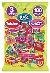 Hershey's Halloween Assortment (Twizzlers, Jolly Rancher, Bubble Yum Sweets Assortment), 48.12-Ounce Bag