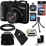 Beach Camera E4CNPSG16 Canon PowerShot G16 12.1 MP CMOS Digital Camera with 5x Optical Zoom and 1080p Full-HD Video Ultimate Bundle