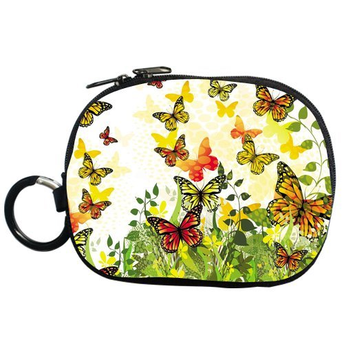 Cartoon Design Butterfly And Flowers Personalized Coin Purse (Two Side) front-1077239