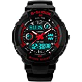 Fanmis S - Shock Military Analog Digital Display Multifunction Dual Time Alarm Waterproof Sport Watch Red