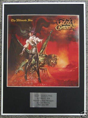 Ozzy Osbourne-LP-Stampa incorniciata, The Ultimate Sin