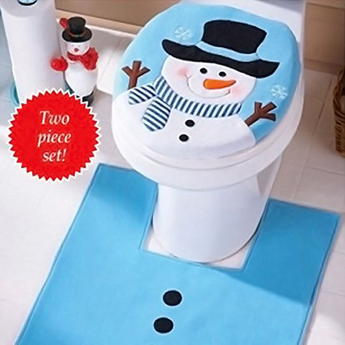 [Fancy Santa Toilet Seat Cover & Rug Bathroom Set Christmas Xmas Home Decoration] (Ideas For Homemade Robot Costumes)