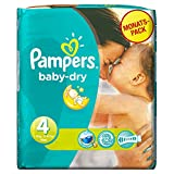 Pampers Baby Dry Size 4 Maxi Monthly Pack - 174 Nappies