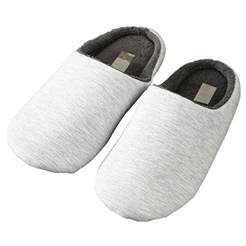 maaryee-hombres-algodon-de-color-solido-breve-casa-zapatillas-color-gris-talla-l