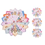 Milesky Women's Handkerchiefs Vintage Floral Print Thickened Cotton