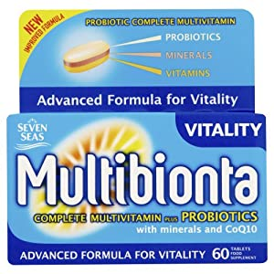 Seven Seas Multibionta Probiotic Multi Vitamin Mineral & Probiotic Advanced Formula Supplement 60 Tablets