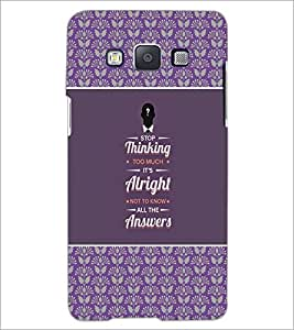 PrintDhaba Quote D-2613 Back Case Cover for SAMSUNG GALAXY E5 (Multi-Coloured)