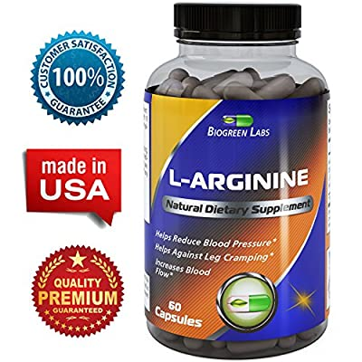 BioGreen Labs L-Arginine Natural Dietary Supplement (60 Caps)
