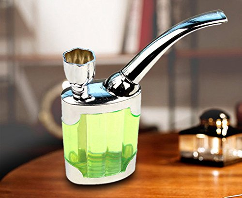 Qianyi-Dual-Purpose-Portable-Smoke-Pipes-Water-Tobacco-Pipe-Cigarette-Holder-Smoking-Hookah-Filter-Green