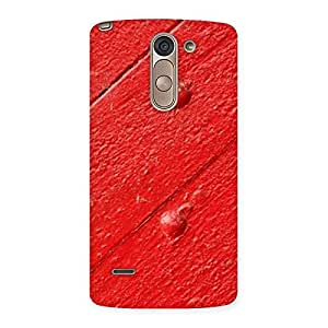 Red Texture Wood Print Back Case Cover for LG G3 Stylus