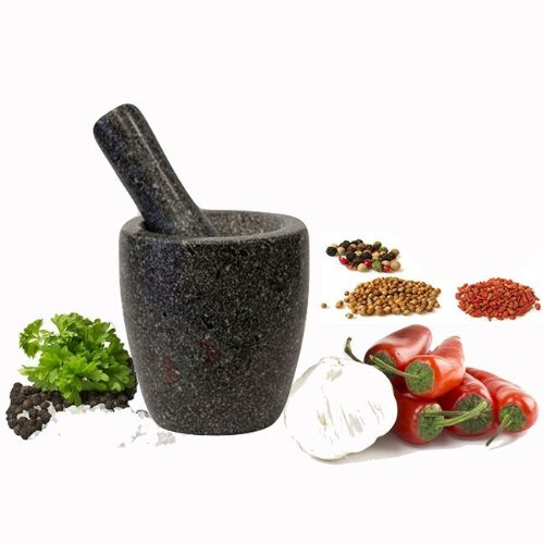 new-110-x-80mm-black-solid-granite-pestle-mortar-set-hand-crusher-grinder-spices-herbs-dressings