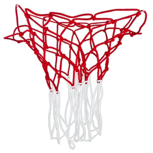 Nylon All Weather Red & White Basketball Nets