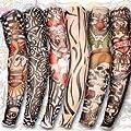 Kr�hlstein� 6 Stile Nylonstretch-Kost�m Faux-Tattoo-�rmel - Kost�m Seidenstrumpf