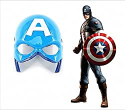 Zest 4 Toyz Super Cool Spider man Face Mask With Lights to glow in dark - Party Fun (Captain America)