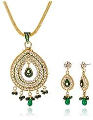 "AAKSHI ""Hare Rang Me Baarish Ki Boondein"" Green Raindrops Jewellery Set (AKS_ST_CONG)"