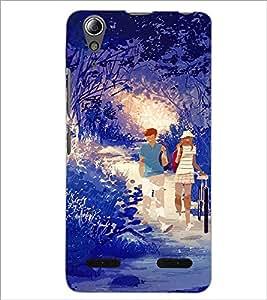 PrintDhaba Digital cat D-4752 Back Case Cover for LENOVO A6000 (Multi-Coloured)