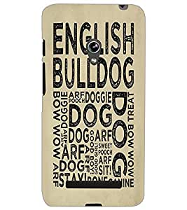 ASUS ZENFONE 5 ENGLISH BULLDOG Back Cover by PRINTSWAG