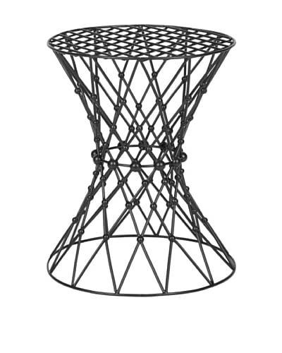 Safavieh Charlotte Iron Wire Stool, Black Matt Epoxy