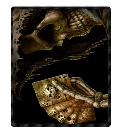Skull Throw Blanket front-1071221