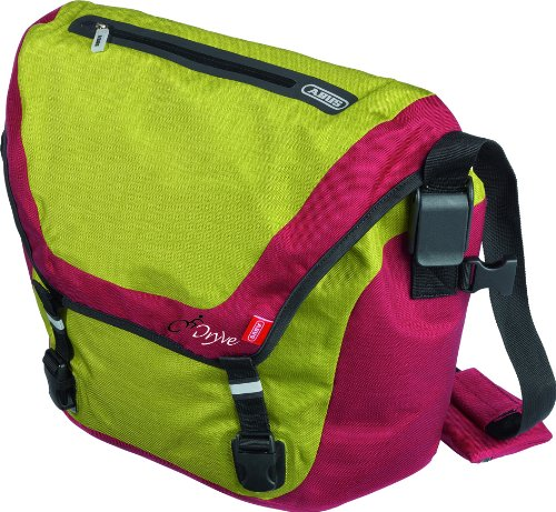 ABUS Men's/Uni Pannier Dryve Messenger Bag St 8600, 35 x 13 x 28 cm, Blackberry/Lime