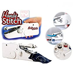 Dealcrox Handy Stitch Portable and Cordless Handheld Sewing Machine White and Multicolor