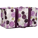 Thirty One Large Utility Tote in Sketchy Dot - No Monogram - 3121