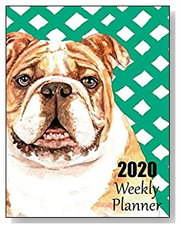 Bulldog 2020 Dated Weekly Planner - A fun canine-themed planner to help any dog lover stay organized and keep track of activities on a daily, weekly, and monthly basis from January to December 2020.