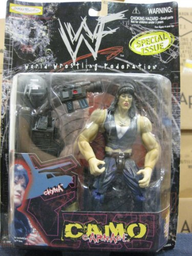 WWF Camo Carnage Special Issue Chyna by Jakks Pacific 1999 - 1