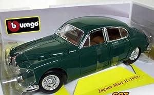 JAGUAR MK2 1959 1/18 BURAGO BRITISH RACING GREEN 12009G