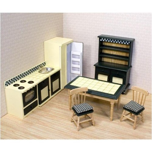 Melissa & Doug Deluxe DollHouse Kitchen Furniture