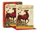 CR Gibson Winter Garden Boxed Christmas Cards, Reindeer