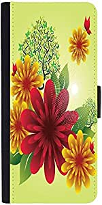 Snoogg Spring Flowersdesigner Protective Flip Case Cover For Samsung Galaxy S...