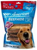 """Pet Factory 78109 Assorted Flavored (Beef & Chicken) Chip Rolls 5"""" 20 Pack. Made in USA"""
