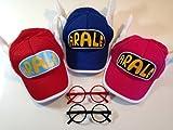 ほよよ~(^0^)【 ドクタースランプ アラレちゃん 風 帽子 】 子供女性用版 3色選べるよ~ ※黒と赤の メガネを2個お付けします コスプレ / 日除け (ピンク)