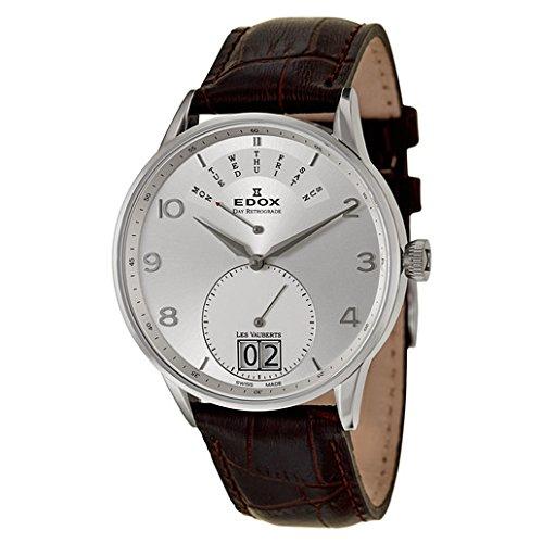 Edox Les Vauberts Day Retrograde Men's Quartz Watch 34005-3A-ABN
